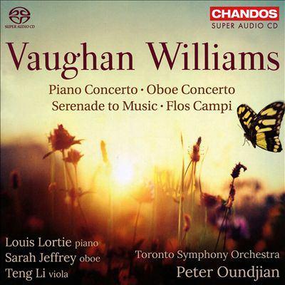 Cover image for Piano concerto ; Oboe concerto ; Serenade to music ; Flos campi