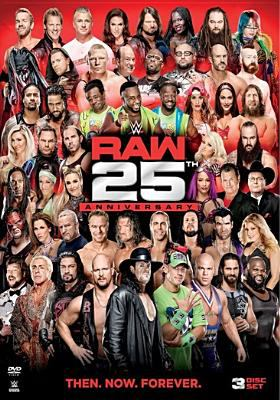 Cover image for WWE raw 25th anniversary.