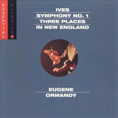 Cover image for Symphony no. 1 in D minor Three places in New England ; Robert Browning overture