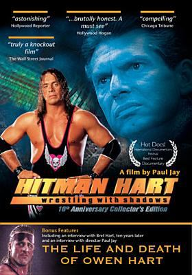 Cover image for Hitman Hart wrestling with shadows