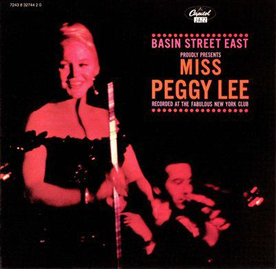 Cover image for Basin Street East proudly presents Peggy Lee.