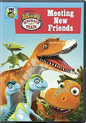 Cover image for Dinosaur train. Meeting new friends.