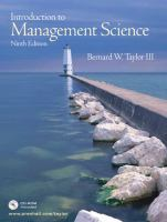 Cover image for Introduction to management science