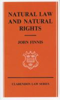Cover image for Natural law and natural rights