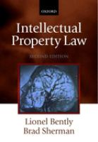 Cover image for Intellectual property law