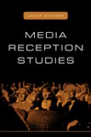 Cover image for Media reception studies.