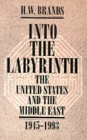 Cover image for Into the labyrinth : the United States and the Middle East, 1945-1993