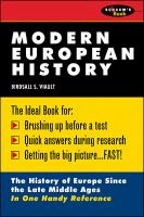 Cover image for Modern European history