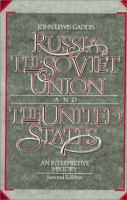 Cover image for Russia, the Soviet Union, and the United States : an interpretive history