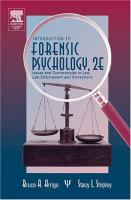 Cover image for Introduction to forensic psychology issues and controversies in crime and justice