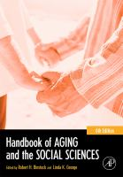 Cover image for Handbook of aging and the social sciences