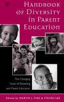 Cover image for Handbook of diversity in parent education the changing faces of parenting and parent education