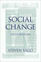 Cover image for Social change