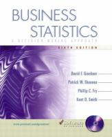 Cover image for Business statistics : a decision-making approach