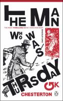 Cover image for The man who was Thursday; a nightmare.