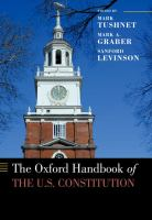 Cover image for The Oxford handbook of the U.S. Constitution