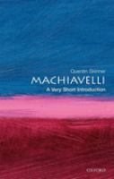 Cover image for Machiavelli: a very short introduction