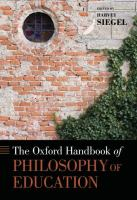 Cover image for The Oxford handbook of philosophy of education