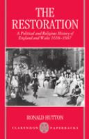 Cover image for The Restoration : a political and religious history of England and Wales, 1658-1667