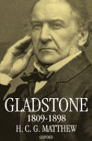 Cover image for Gladstone 1809-1898