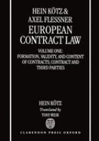 Cover image for European contract law