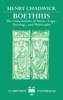 Cover image for Boethius, the consolations of music, logic, theology, and philosophy