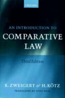 Cover image for Introduction to comparative law