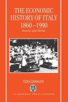 Cover image for The economic history of Italy, 1860-1990
