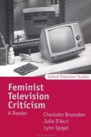 Cover image for Feminist television criticism : a reader