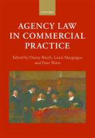 Cover image for Agency law in commercial practice