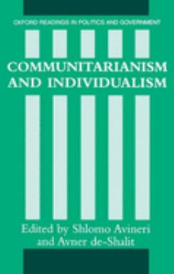 Cover image for Communitarianism and individualism