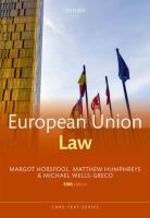 Cover image for European Union law