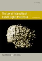 Cover image for The law of international human rights protection