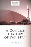 Cover image for A concise history of Pakistan