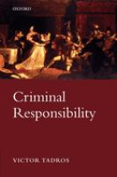 Cover image for Criminal responsibility