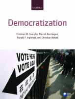 Cover image for Democratization