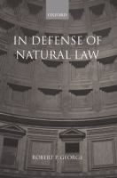 Cover image for In defense of natural law