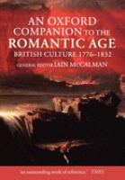 Cover image for An Oxford companion to the Romantic Age : British culture, 1776-1832