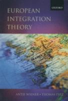 Cover image for European integration theory