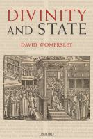 Cover image for Divinity and state