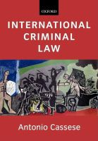 Cover image for International criminal law.