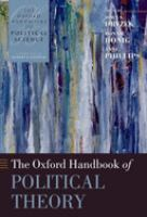 Cover image for The Oxford handbook of political theory