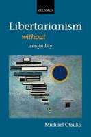 Cover image for Libertarianism without inequality