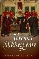 Cover image for Forensic Shakespeare