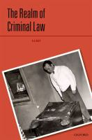 Cover image for The realm of criminal law