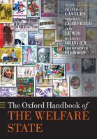Cover image for The Oxford handbook of the welfare state
