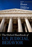Cover image for The Oxford handbook of U.S. judicial behavior