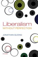 Cover image for Liberalism without perfection