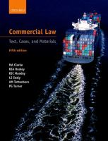 Cover image for Commercial law : text, cases, and materials