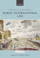 Cover image for Brownlie's principles of public international law